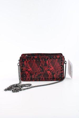 Zara Woman Crossbody bag red-black animal pattern casual look