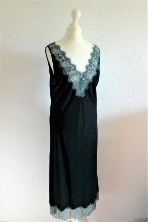 Zara Woman vintage Gatsby Kleid Samt Spitze grün Gr. L 38 40