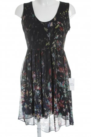 Zara Woman High Low Dress themed print minimalist style