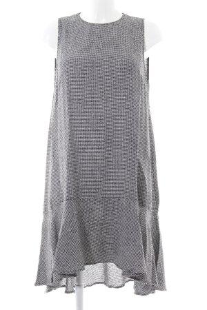 Zara Woman Flounce Dress black-white allover print casual look