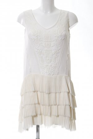 Zara Woman Flounce Dress white-natural white casual look