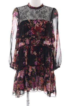 Zara Woman Flounce Dress flower pattern elegant