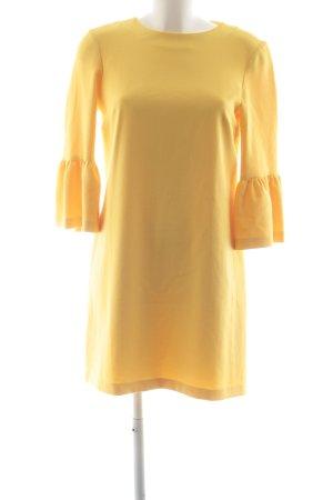 Zara Woman Vestido estilo flounce amarillo elegante