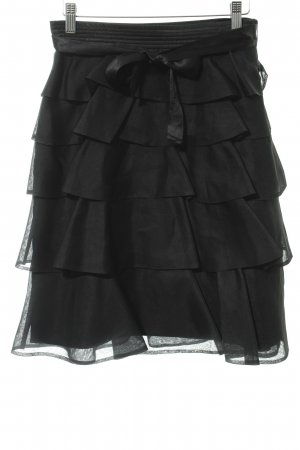 Zara Woman Flounce Skirt black elegant