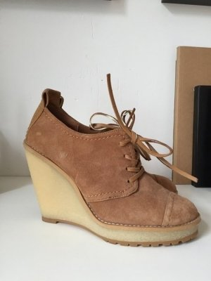Zara Woman Wedges Leder Lederpumps Blogger Wildleder