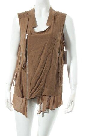 Zara Woman Weste braun Casual-Look