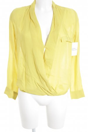 Zara Woman Camicetta aderente giallo stile casual