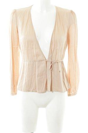 Zara Woman Wickel-Bluse nude schlichter Stil