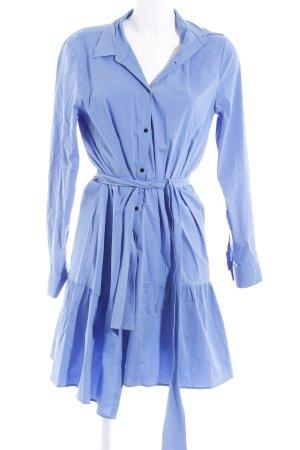 Zara Woman Wickelkleid himmelblau Casual-Look