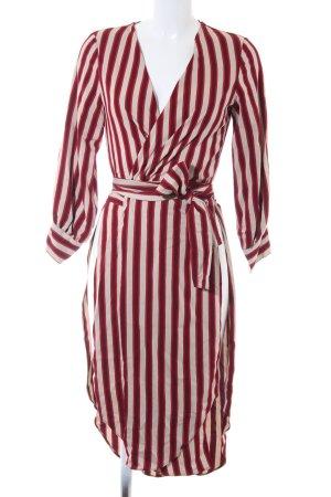 Zara Woman Wickelkleid Streifenmuster