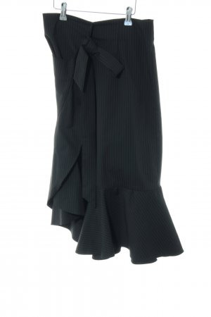Zara Woman Wikkelrok zwart-wit krijtstreep casual uitstraling