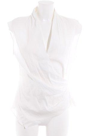 Zara Woman Maglietta aderente bianco elegante