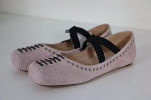 Zara Woman Wildleder Studio Schuhe Ballerinas Nude Rosa Blogger Neu Gr. 39