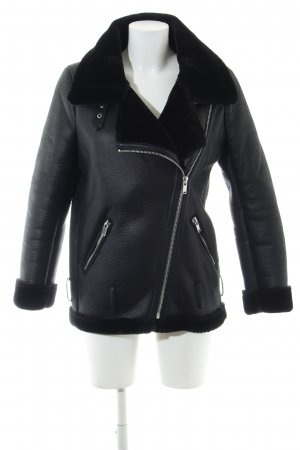 Zara Woman Winterjacke schwarz Casual-Look