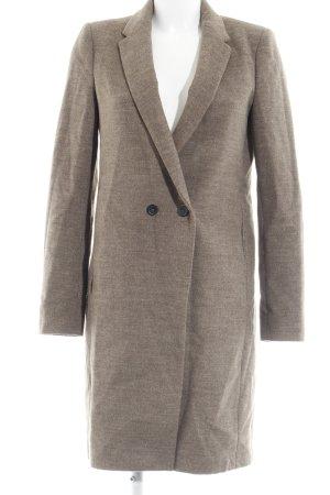 Zara Woman Winterjacke hellbraun meliert Casual-Look