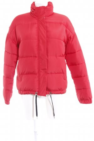 Zara Woman Winterjacke rot Casual-Look
