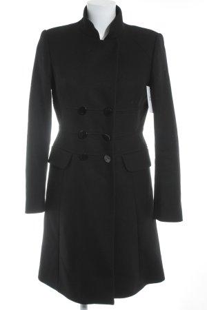 Zara Woman Wintermantel schwarz Business-Look