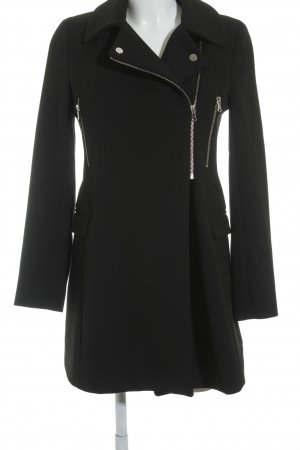 Zara Woman Wintermantel schwarz Casual-Look