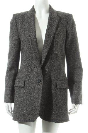 Zara Woman Woll-Blazer anthrazit meliert Street-Fashion-Look