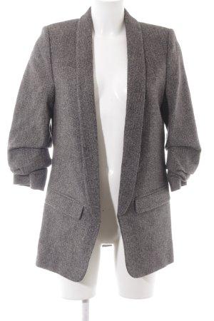 Zara Woman Wool Blazer grey-dark red flecked classic style