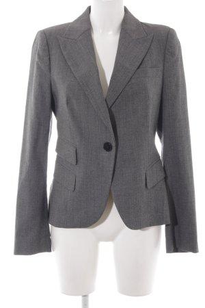 Zara Woman Woll-Blazer grau-hellgrau meliert Business-Look