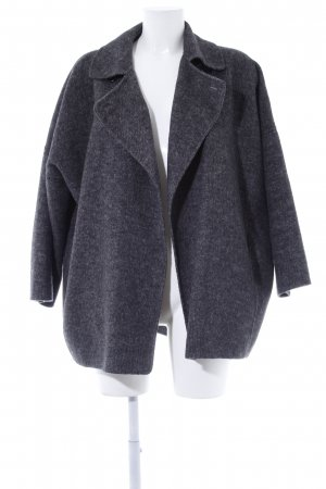 Zara Woman Wool Blazer grey flecked casual look