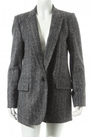 Zara Woman Woll-Blazer grau meliert Street-Fashion-Look
