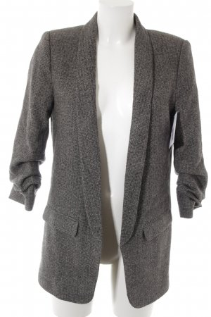 Zara Woman Woll-Blazer grau-schwarz meliert Brit-Look
