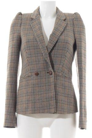 Zara Woman Woll-Blazer Hahnentrittmuster klassischer Stil