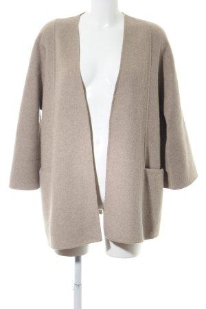 Zara Woman Chaqueta de lana marrón look casual