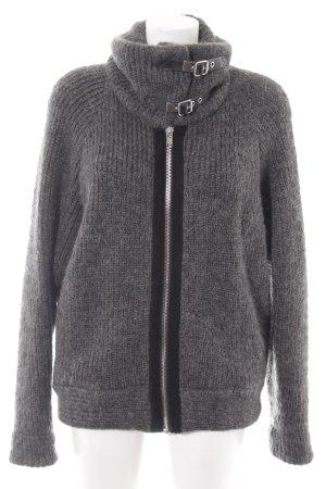 Zara Woman Giacca di lana grigio stile casual