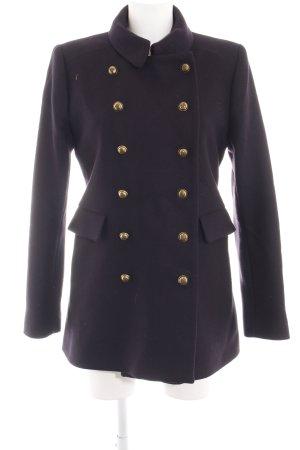 Zara Woman Wool Coat black business style