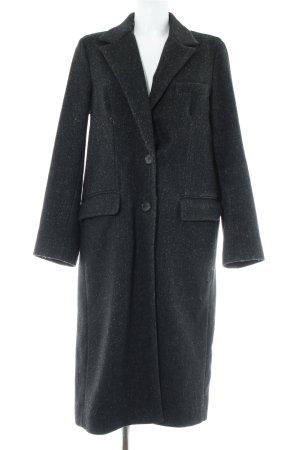 Zara Woman Wollmantel anthrazit Fischgrätmuster Casual-Look