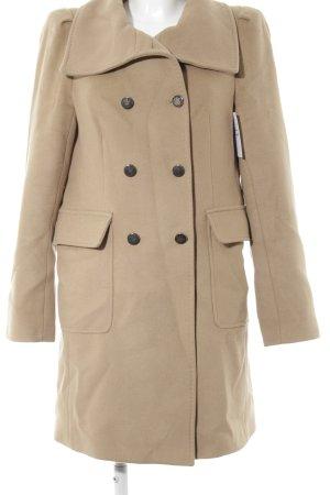 Zara Woman Wollmantel beige Casual-Look