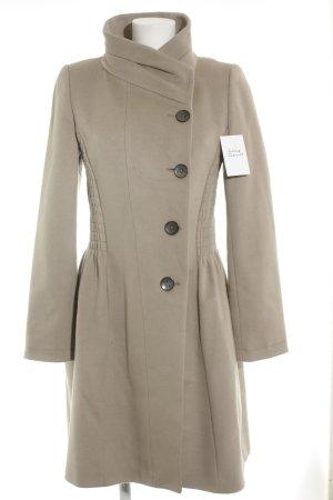 Zara Woman Manteau en laine beige style décontracté