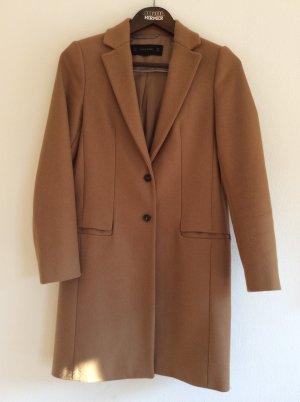 Zara Woman Wollmantel Beige Cognac Blogger Streetstyle S