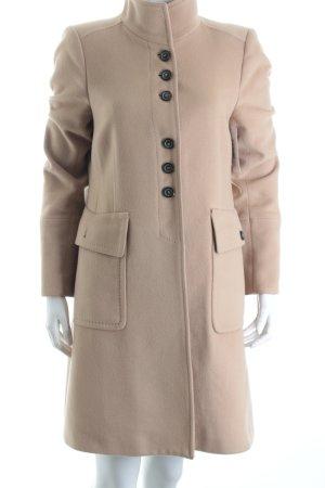 Zara Woman Wollmantel beige klassischer Stil