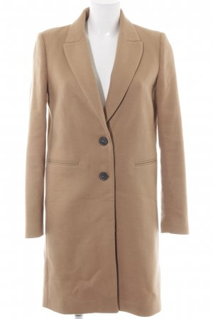Zara Woman Wollmantel camel Casual-Look