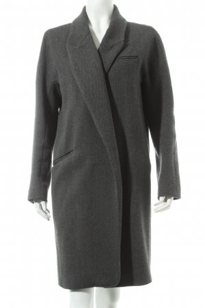 Zara Woman Wollmantel grau meliert Street-Fashion-Look