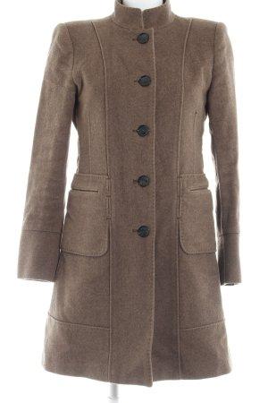 Zara Woman Wollen jas grijs-bruin simpele stijl