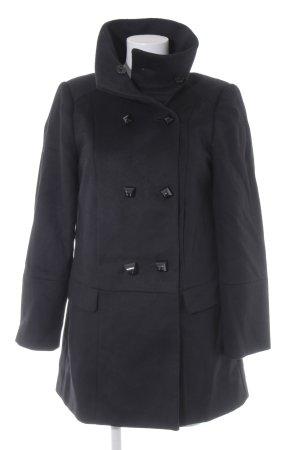 Zara Woman Wollmantel schwarz Casual-Look