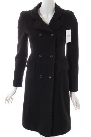 Zara Woman Wollmantel schwarz Elegant