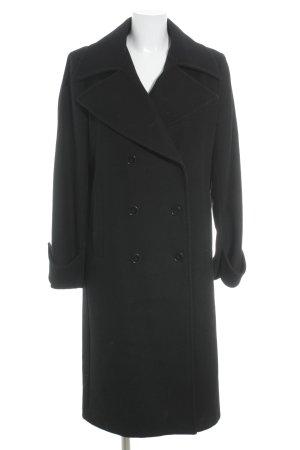 Zara Woman Wollmantel schwarz klassischer Stil