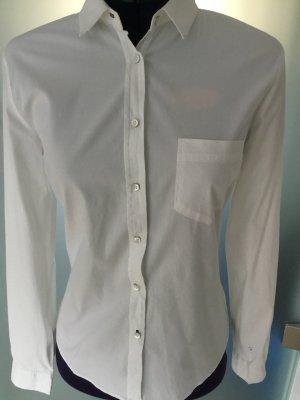 Zara Women Bluse Hemd weiß stretch Baumwolle XS