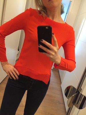 Zara women Bluse Tunika XS 34 wie neu coral rot orange