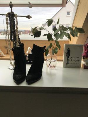 Zara Woman Western Booties black suede