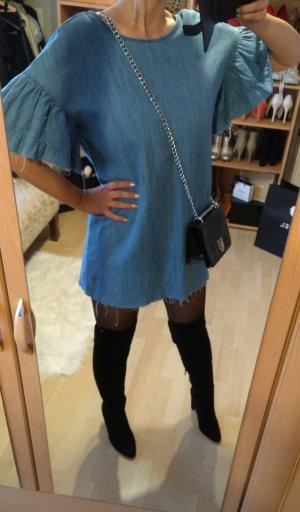 Zara Robe en jean bleu