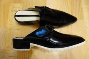Zara Women Mules Loafer Pantoletten Leder Gr. 38/38,5 Schuhe Scandinavian Chic