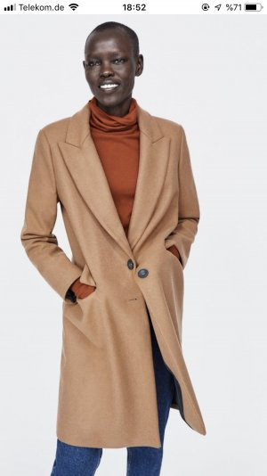 Zara Basic Heavy Pea Coat multicolored