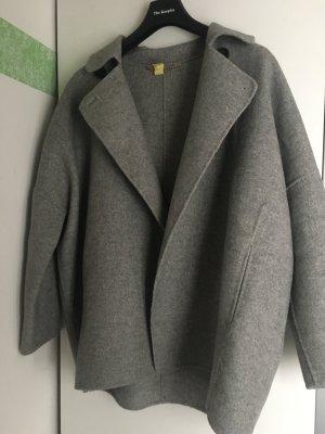 Zara Woman Veste oversize argenté laine